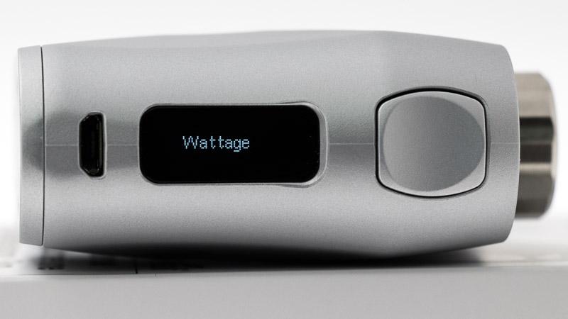 écran de du kit pico x avec inscription wattage