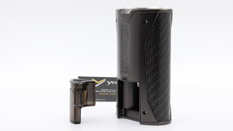 Le réservoir de la box SX Mini XClass BF est à l'arrière, il peut contenir 4 ml de liquide