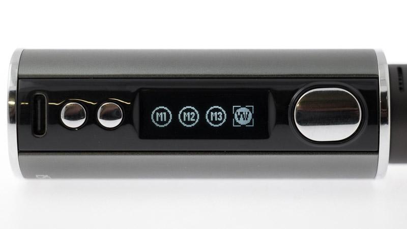 la box istick T80 avec son écran montrant le Mode contrôle de puissance (VW)