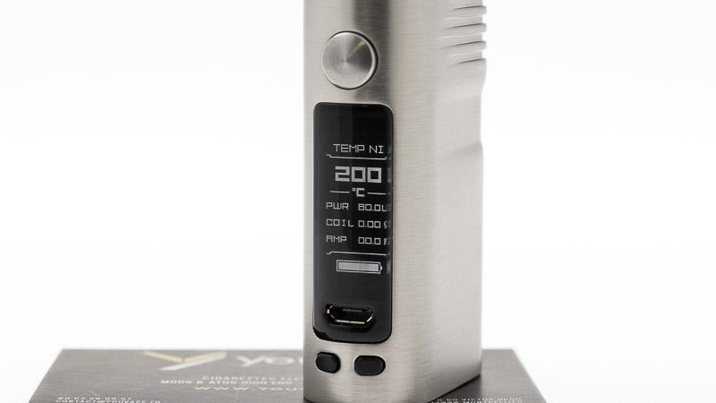 la petite box et son écran montrant le mode control de la temperature