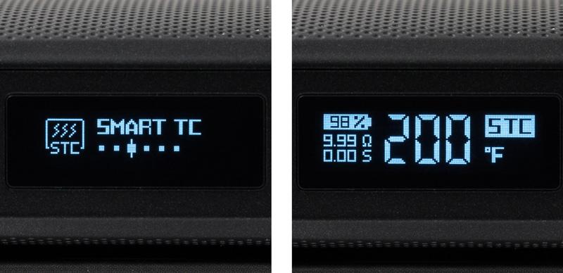 l'écran de la box gen montrant le mode smart tc