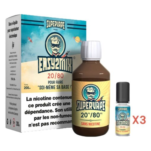 Easy2mix Base 3mg 20/80 200ml par supervape