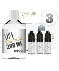 Base 3mg 100vg 200ml par revolute
