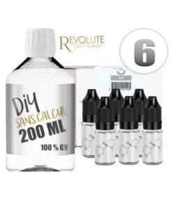 Base 6mg 100vg 200ml par revolute