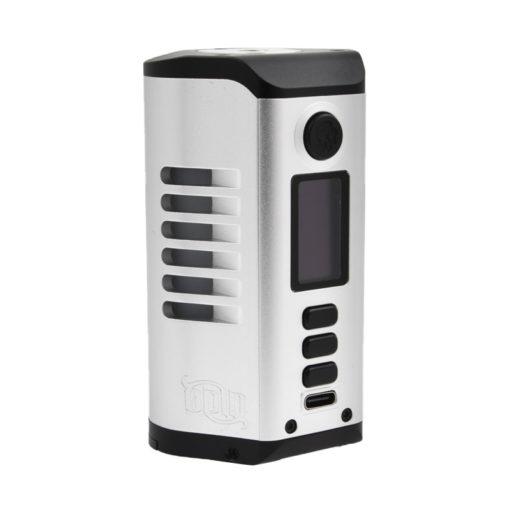 La Odin 200W, de Dovpo et Vaperz Cloud, est une box électronique imposante par son design et par son autonomie, avec 2 accus 21700 pour délivrer jusqu'à 200 watts.