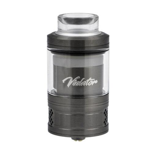 Le Violator RTA est un atomiseur reconstructible de 28mm, fabriqué par QP Design en édition limitée et numérotée. Son large deck autorise tous les montages pour une vape puissante.