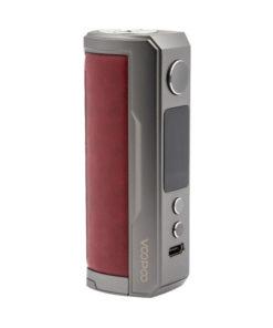 La Drag X Plus est une box électronique simple accu 21700 de 100 watts, compacte et agréable en main avec son design proche d'un tube et sa poignée similicuir.