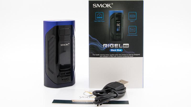 Contenu du coffret de la Box Rigel par Smok