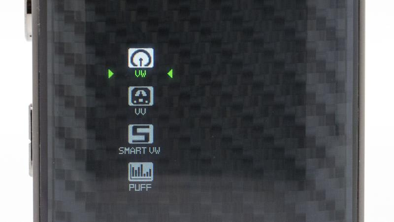 Pour accéder aumenu des réglages, il faut cliquer sur les deux boutons de réglage en même temps. Il est alors possible de sélectionner l'un des trois modes proposés :