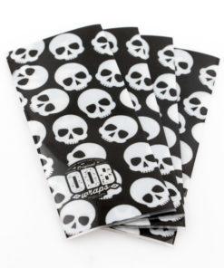 Packs de 4 Wraps décorés de ODB pour les accus 18650.Décorez vos précieux accus avec le magnifique motif Skullz noir.