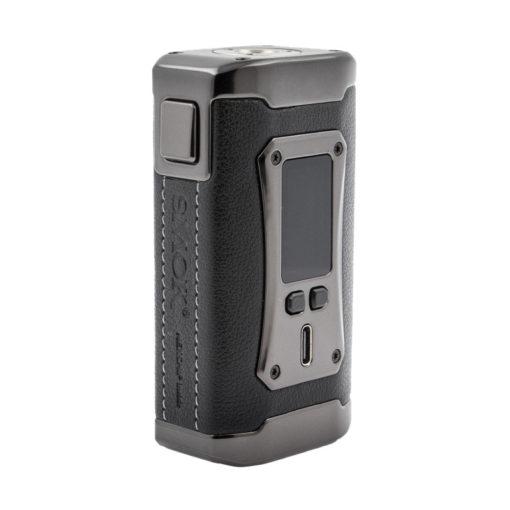 La Morph 2 est une box électronique double accu capable de fournir 230w. Gainée de cuir, elle est très agréable en main, et son grand écran couleur est somptueux.