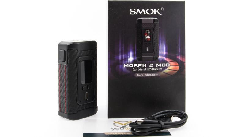 Contenu du coffret de la box Morph 2 par Smok