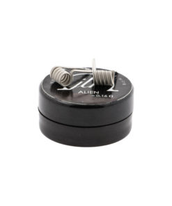 Pack 2 coils Alien en Ni80 du builder JTR (Join the Resistance) pour une valeur de 0.16 ohm en double coil, et 0.32 ohm en simple coil.