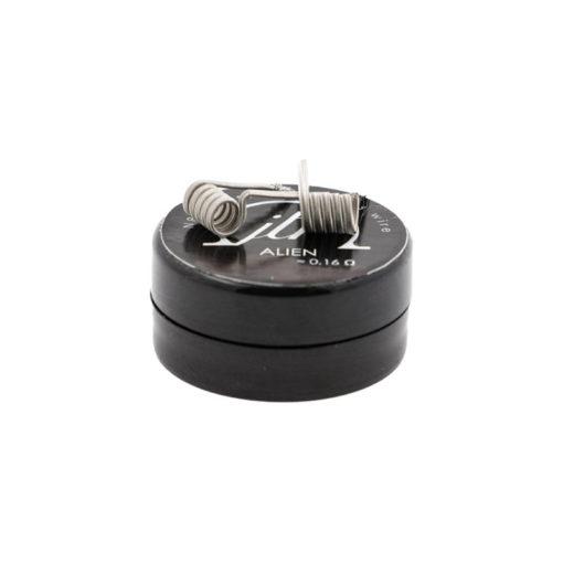 Pack 2 coils Alien enNi80du builderJTR (Join the Resistance) pour une valeur de 0.16 ohm en double coil, et 0.32 ohm en simple coil.