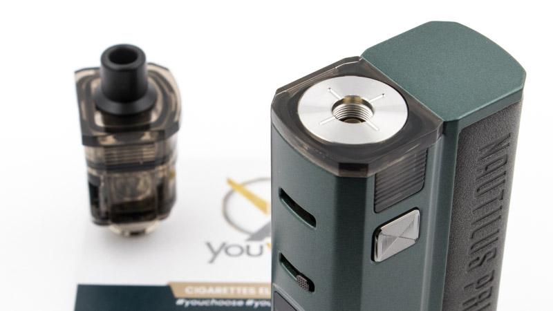 L'adaptateur prend la forme d'une cartouche pour le Nautilus Prime X. Pour l'installer, il suffit de retirer la cartouche traditionnelle et de le glisser à sa place. Il n'y a pas plus simple.