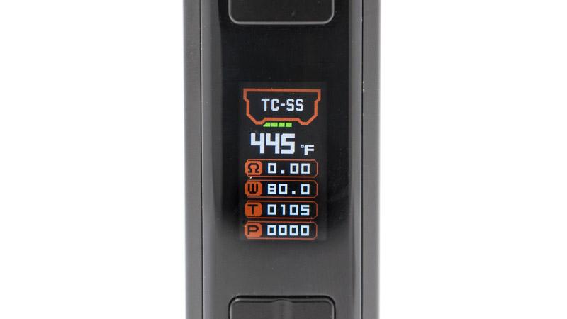 Le mode température fonctionne de deux manières : soit avec des fils enregistrés (SS, Ti, Ni), soit en TCR