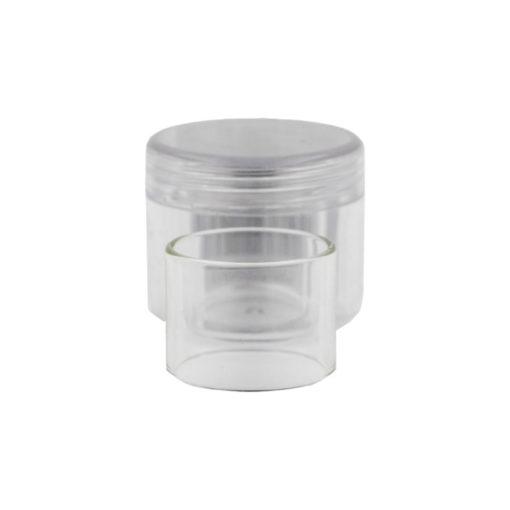 Réservoir de rechange en pyrex de forme droite pour l'atomiseur reconstructible Violator de QP Design, d'une contenance de 4ml.