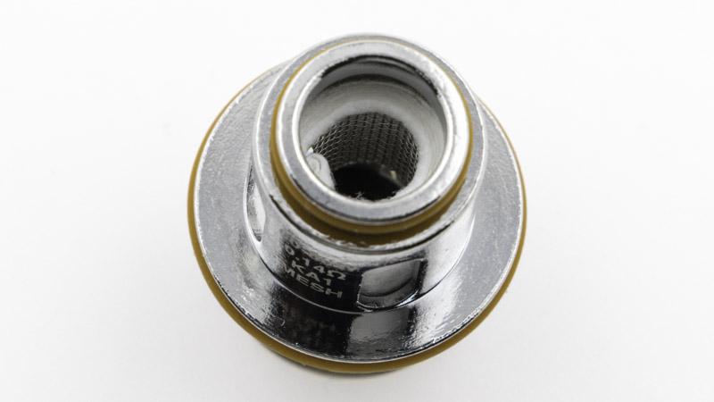 Résistance simple coil en mesh de Kanthal A1, d'une valeur de 0,14 ohm, destinée à l'inhalation directe entre 60 et 80 watts, pour une vapeur dense et aérienne.