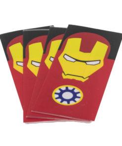 """Packs de 4Wrapspour accus18650, décorés de motifs """"supers héros"""". Importants pour éviter tout court circuit, n'attendez pas avant de remplacer les revêtements fatigués de vos accus."""