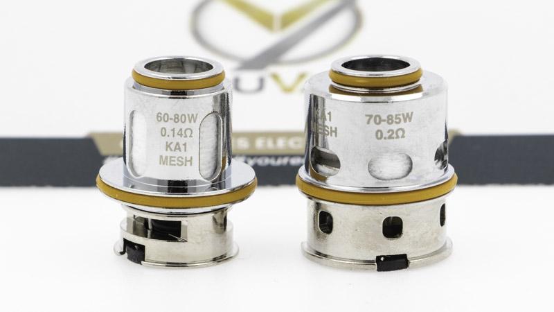 Geek Vape livre son clearomiseur avec deux résistances de la gamme M coils.