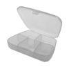 Boite de rangement du type Pills Box (boite à pilules) avec 5 emplacements. Idéale pour ranger des résistances, coils ou des drip tips par exemple.
