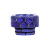 Drip Tips 810 avec joints, en Résine maillée en nid d'abeille, disponibles en 6 couleurs : noir, vert, rouge, orange, bleu, violet.