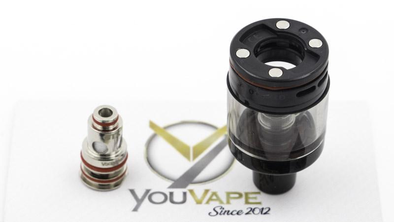 La cartouche du kit Gtx Go 40 accueille les résistances de la gamme Gtx de Vaporesso. La marque la livre avec une résistance polyvalente, la Gtx de 0.6 ohm, qui se consacre à l'inhalation directe modérée autour de 25 watts. Elle offre un bel équilibre entre production de vapeur et restitution de saveurs.