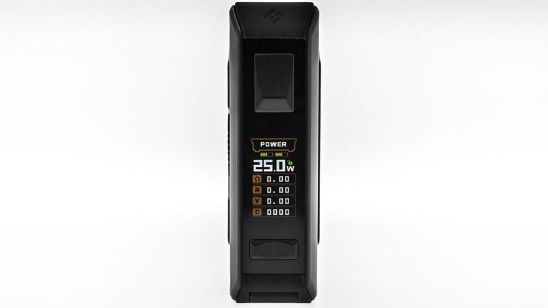 Toujours aussi simple à utiliser grâce à son ergonomie, le chipset de la box Aegis Legend 2 peut délivrer une puissance de 200 watts, de manière précise et dynamique. Il est servi par un bel écran en couleur, et des boutons largement dimensionnés, utilisables avec des gants ou des moufles.