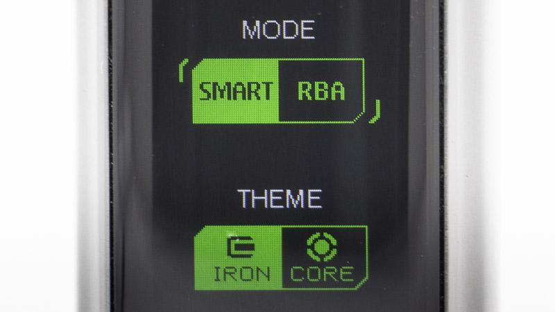 Pour changer de mode, il suffit de presser longuement sur les deux boutons de réglage en même temps. Vous pouvez alors choisir le mode Rba, , mais aussi choisir le graphisme de l'affichage.