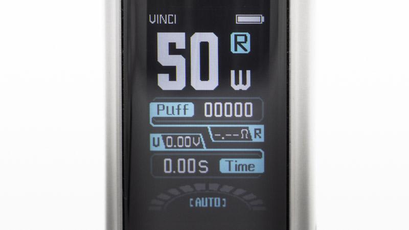 Le mode Rba s'affiche en bleu, et fonctionne comme un mode puissance variable traditionnel. Vous êtes alors libre de régler la puissance sur toute la plage offerte, de 5 à 50 watts.