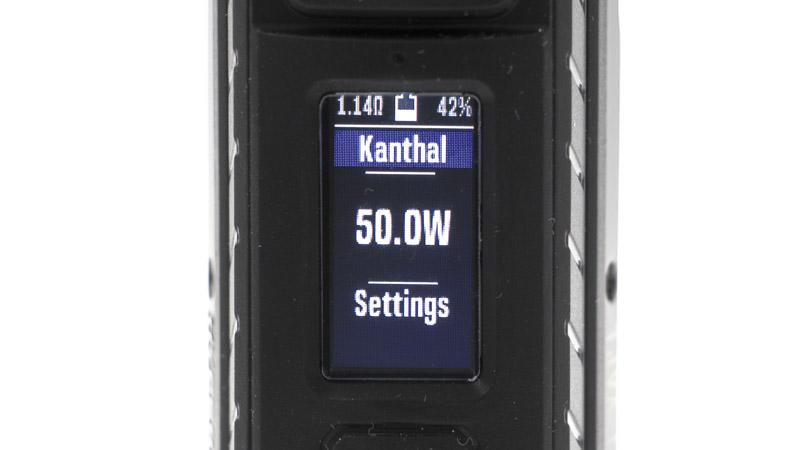 Le premier preset, nommé Kanthal, fonctionne en mode puissance simple. Vous pouvez bien sûr renommer chaque preset à votre guise.