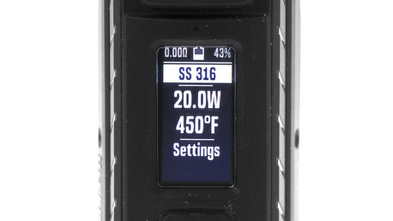 D'origine, plusieurs presets sont consacrés à la vape en mode température : c'est en effet l'un des points forts de ce chipset. Il autorise tous les réglages (puissance et température), et permet d'ajouter les caractéristiques de nouveaux fils, comme le NiFe30 par exemple.