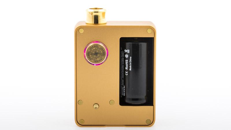 La DotAIO est conçue pour être simple à utiliser, tout en offrant une large gamme de vape. Dotmod a donc mis au point une électronique astucieuse : son chipset vous permet de choisir 1 niveau de puissance parmi 4, en fonction de la résistance que vous avez monté. Pour choisir un niveau, il suffit de cliquer sur le petit bouton doré, sous le switch. Chaque clic illumine 1, 2, 3 ou 4 leds autour du switch :