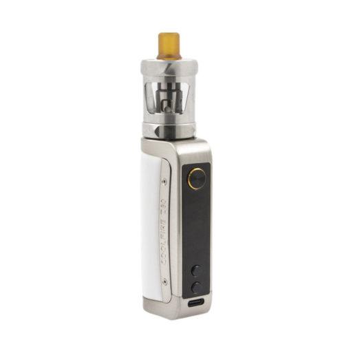 Le kit Coolfire Z80 est une e-cigarette polyvalente. Simple à utiliser, elle peut aussi offrir des fonctions innovantes grâce au courant alternatif.