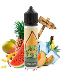 Le e liquide Green Gravity de Flavor Drops est une symphonie de fruits, fraîche et acidulée, associant pastèques, melons et fruits exotiques à la mode Phillippine.