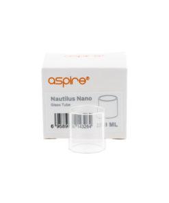 Réservoir de rechange en pyrex pour le clearomiseur Nautilus Nano de Aspire. Il peut contenir 2ml de eliquide.